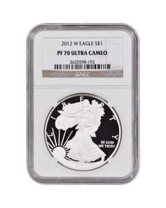 2012-W NGC PF-70 Proof American Silver Eagle Coin