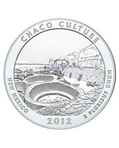 2012 Chaco Culture 5 oz Burnished Silver Coin - America The Beautiful