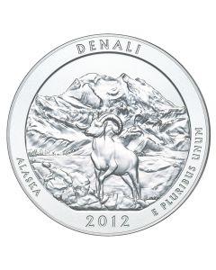 2012 Denali 5 oz Burnished Silver Coin - America The Beautiful