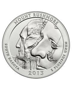 2013 Silver 5 oz Mount Rushmore America The Beautiful