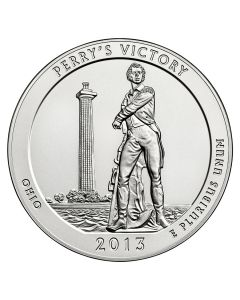 2013 Silver 5 oz Perry's Victory and Peace Park America The Beautiful