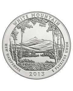 2013 Silver 5 oz White Mountain National Park America The Beautiful
