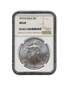 2014 NGC MS-69 American Silver Eagle Coin (Brown Label)