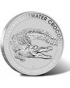 2014 Australian Saltwater Crocodile Silver 1 oz BU Perth Mint