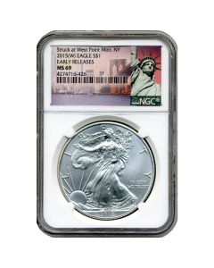 2015(W) NGC MS-69 Early Releases American Silver Eagle Coin (NY Label)