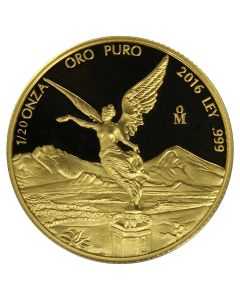 2016 Mexican Gold Libertad Proof Coin 1/20 oz