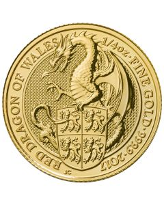 2017 1/4 oz Queen's Beasts Gold Coin - The Dragon - Royal British Mint
