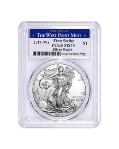 2017 (W) PCGS MS-70 First Strike American Silver Eagle - West Point Label