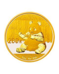 2017 15 Gram Chinese Gold Panda Coin BU