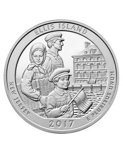 2017 Ellis Island ATB 5 oz Silver Coin - America The Beautiful