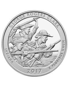 2017 George Rogers Clark ATB 5 oz Silver Coin - America The Beautiful