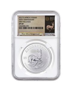 2017 South African Krugerrand Silver Coin 1 oz - NGC SP-69 First Releases White Core