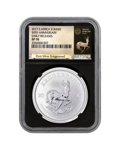 2017 South African Krugerrand Silver Coin 1 oz - NGC SP-70 Early Releases Black Core