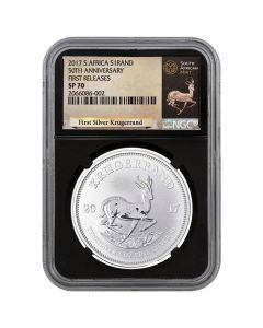2017 South African Krugerrand Silver Coin 1 oz - NGC SP-70 First Releases Black Core