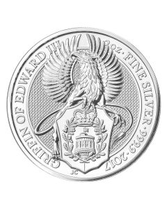 2017 2 oz Silver Queen's Beasts The Griffin - Royal British Mint