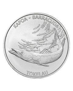 2017 Tokelau 1 oz Hakula Barracuda Silver Coin