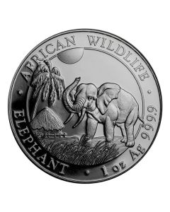 2017 Somalian Elephant 1 oz Silver Coin