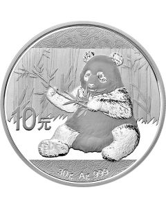 2017 30 Gram Chinese Silver Panda Coin BU