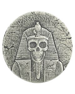 2017 Republic of Chad Pharaoh Ramesses Afterlife 2 oz Silver Coin - Egyptian Relic Series
