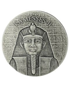 2017 Republic of Chad Pharaoh Ramesses 2 oz Silver Coin - Egyptian Relic Series