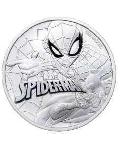 2017 Tuvalu Spider-Man Silver 1 oz Coin