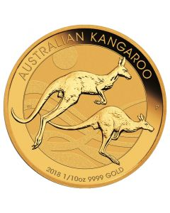 2018 Perth Mint Gold Kangaroo Coin 1/10 oz