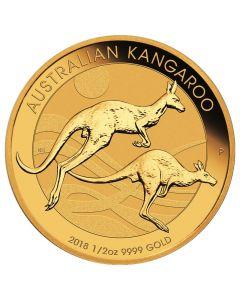 2018 Perth Mint Gold Kangaroo Coin 1/2 oz