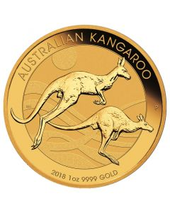 2018 Perth Mint Gold Kangaroo Coin 1 oz