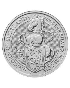 2018 2 oz Silver Queen's Beasts Unicorn of Scotland