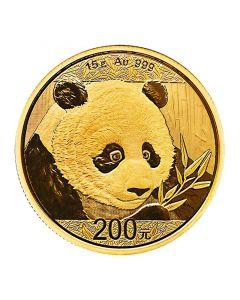 2018 15 Gram Chinese Gold Panda Coin BU