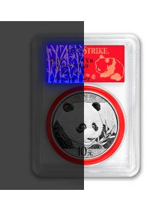 2018 30 Gram Chinese Silver Panda PCGS MS-69 First Strike Reveal Label