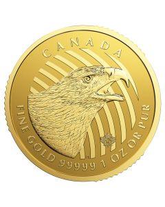 2018 RCM Golden Eagle Gold Coin 1 oz .99999  - Call of the Wild