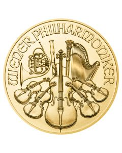 1 oz Austrian Philharmonic Gold Coin - Random Year