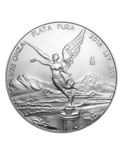 2018 Mexican Libertad Silver Coin 1/20 oz