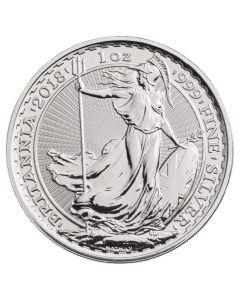 2018 Silver Britannia Coin BU 1 oz
