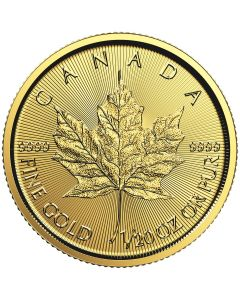 2018 1/20th oz Canadian Gold Maple Leaf BU
