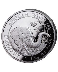 2018 1 Kilo Somalian Elephant Silver Coin
