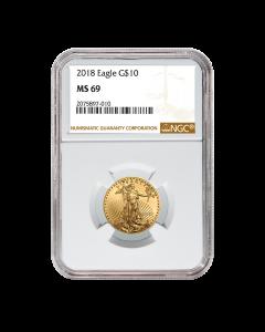 2018 1/4 oz NGC MS-69 Gold American Eagle