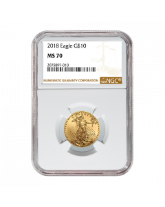 2018 1/4 oz NGC MS-70 Gold American Eagle