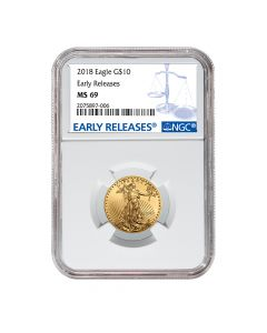 2018 1/4 oz NGC MS-69 Early Releases Gold American Eagle