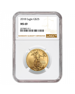 2018 1/2 oz NGC MS-69 Gold American Eagle