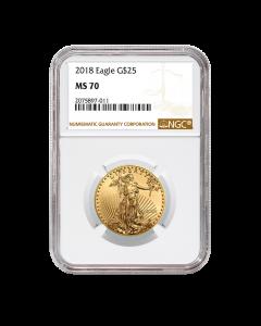 2018 1/2 oz NGC MS-70 Gold American Eagle