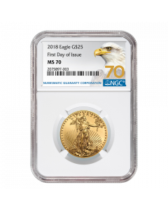 2018 1/2 oz NGC MS-70 First Day Of Issue Gold American Eagle (70 Label)