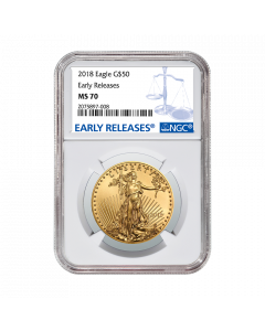 2018 1 oz NGC MS-70 Early Releases Gold American Eagle