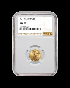 2018 1/10 oz NGC MS-69 Gold American Eagle