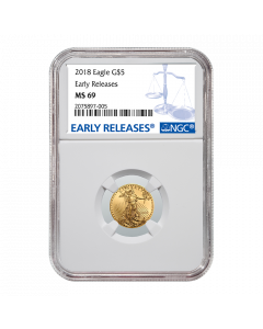 2018 1/10 oz NGC MS-69 Early Releases Gold American Eagle
