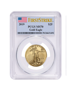 2019 1/2 oz PCGS MS-70 First Strike Gold American Eagle