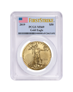 2019 1 oz PCGS MS-69 First Strike Gold American Eagle