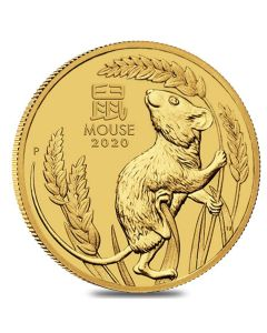 2020 2 oz Year of the Mouse Gold Coin - Perth Mint Lunar Series III
