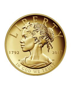2017 Gold High Relief American Liberty 1 oz Coin - 225th Anniversary Release